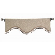 Valance Scalloped scroll Beige