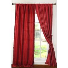 "Curtain Rohini 108"" Burgundy"