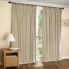 Curtain Shikha Pleated Beige 90""