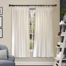 "Pleated Curtain Gaurika Ivory 60"""