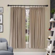 "Pleated Curtain 60"" Shikha Pleated Dark Beige"