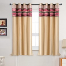 Curtain Meghna Champagne/Rose 60""