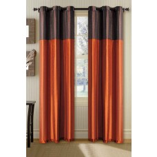 Curtain Tripti Haze Chocolate Mix 90""