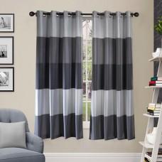 "Curtain Abhina Metallic Grey 60"""