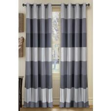 "Curtain Abhina Metallic Grey 90"""