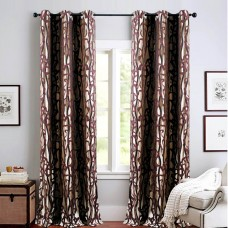 Single 5 ft Curtain Jacquard Amethyst Flow