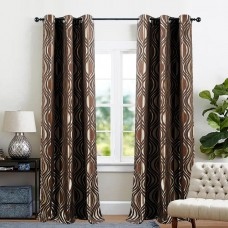 Single 7.5 ft Curtain Jacquard Chocolate Eyelef