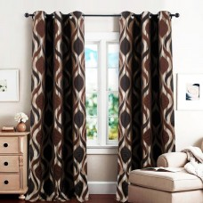 Single 7.5 ft Curtain Koma New Brown