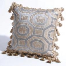 "Deco Home Cushion Cover Leela Beige-16"" X 16"""