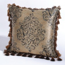 "Deco Home Cushion Cover Ganga 16"" X 16 "" Beige"