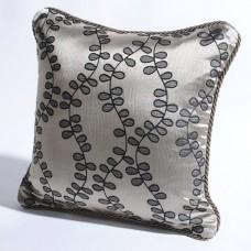 "Deco Home Cushion Cover Jacquard Leaves Dark Beige/Black Mix-16"" X 16"""