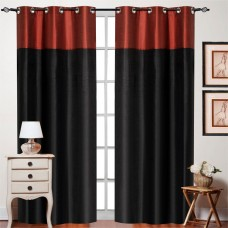 """Top Band Curtain Black Red Mix 84"""""""