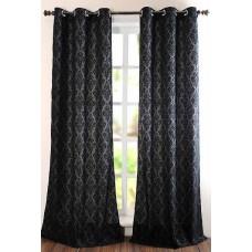 """Curtain (Set of 2) Victoria Black 60"""""""