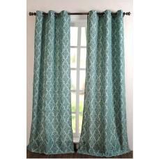 "Curtain Victoria Light Blue 84"" (set of 2)"