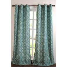 "Curtain Victoria Light Blue 96"""