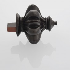 Finial Temple for 50mm Track (Set of 2) Brown oil rubbed