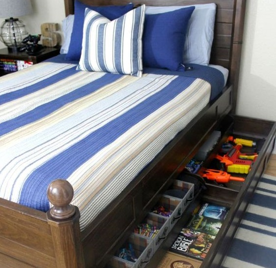 Use space Under your bed for storing