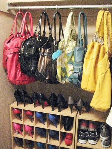 Closet storage in neat & tidy manner